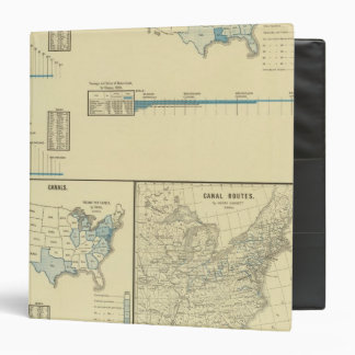 Carriage by water, canals, canal routes 3 ring binder