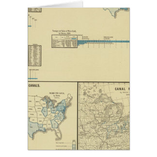 Carriage by water, canals, canal routes card