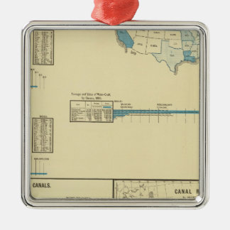 Carriage by water, canals, canal routes metal ornament