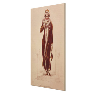 Carriage costume, Ackermann print, 1811 Stretched Canvas Print