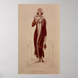 Carriage costume, Ackermann print, 1811 Poster