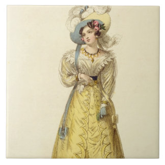 Carriage Costume, fashion plate from Ackermann's R Ceramic Tile