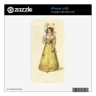Carriage Costume, fashion plate from Ackermann's R iPhone 4S Decal