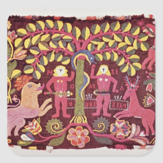 Carriage cushion cover depicting the Fall of Square Sticker