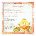 Carriage de princesa: Invitaciones del compromiso Comunicado Personalizado