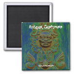 Carriage door, Antigua, Guatemala (Solarized) 2 Inch Square Magnet