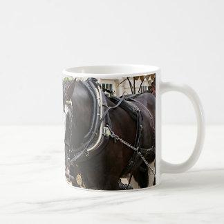 Carriage draft horses coffee mug