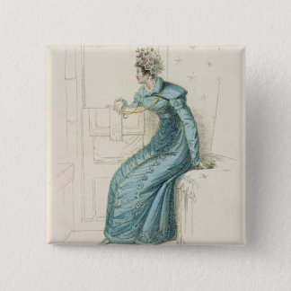 Carriage dress, fashion plate from Ackermann's Rep Pinback Button