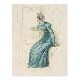 Carriage dress, fashion plate from Ackermann's Rep Postcard