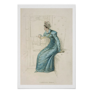 Carriage dress, fashion plate from Ackermann's Rep Poster