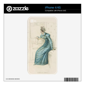 Carriage dress, fashion plate from Ackermann's Rep iPhone 4S Decal