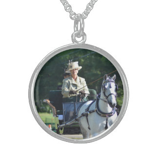 Carriage Driving Sterling Silver Necklace
