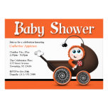 Carriage Halloween Baby Shower Invitations