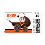Carriage Halloween Baby Shower RSVP Postage