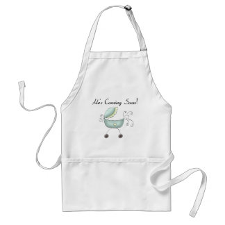 Carriage He's Coming Soon Adult Apron