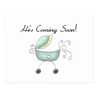 Carriage He's Coming Soon Postcard