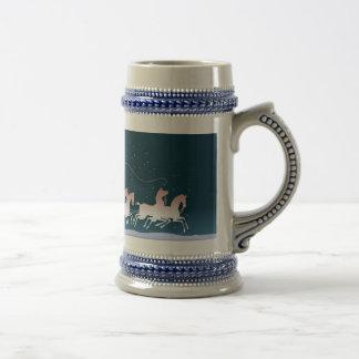 CARRIAGE & HORSES by SHARON SHARPE Mugs