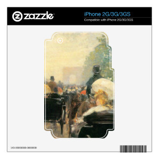 Carriage Parade by Childe Hassam Skins For iPhone 2G