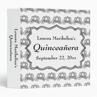 Carriage Pattern Quinceanera 3 Ring Binder