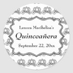 Carriage Pattern Quinceanera Sticker