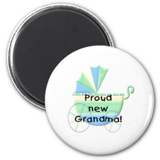 Carriage Proud New Grandma 2 Inch Round Magnet