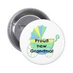 Carriage Proud New Grandma Button