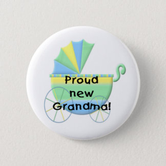 Carriage Proud New Grandma Pinback Button