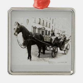 Carriage Ride in Florence Italy Metal Ornament