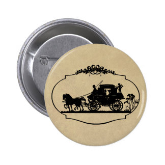 Carriage Ride With Cupid Apparel and Gifts Buttons