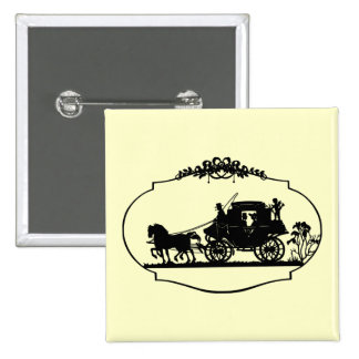 Carriage Ride With Cupid Apparel and Gifts Pins