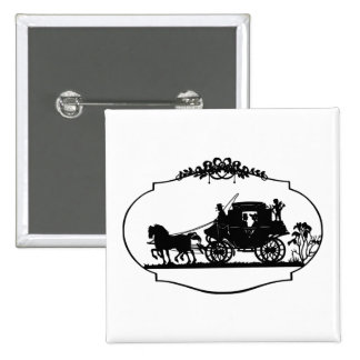 Carriage Ride With Cupid Apparel and Gifts Pinback Button
