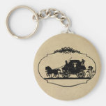 Carriage Ride With Cupid Apparel and Gifts Keychains