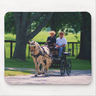 carriage roundup mouse pad