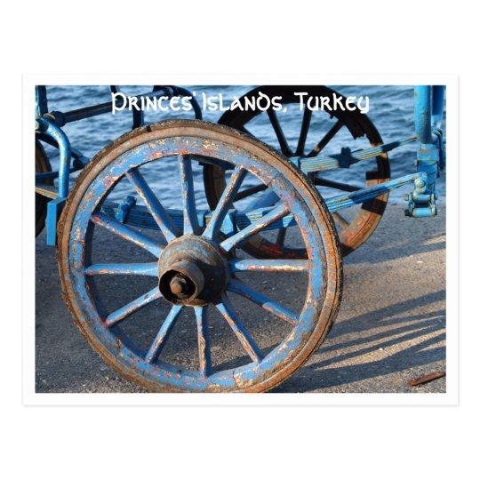 Carriage Wheel Postcard