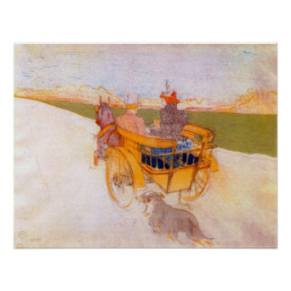 Carriage with Dog by Toulouse-Lautrec Poster