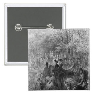 Carriages and riders at Hyde Park Pinback Button