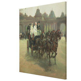 Carriages at Hyde Park Canvas Print