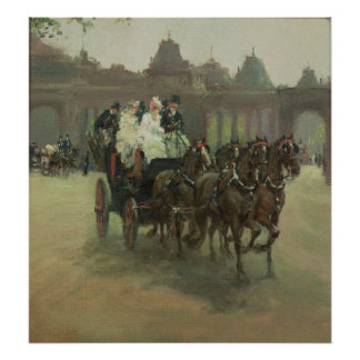 Carriages at Hyde Park Poster