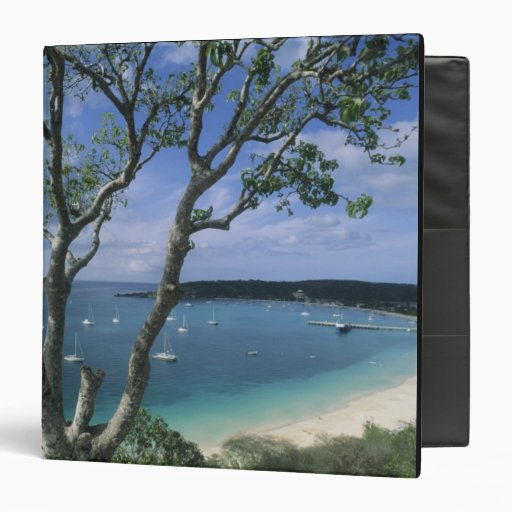 Carribean, Anguilla Island, Road Bay Harbour. 3 Ring Binders
