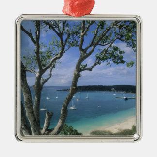 Carribean, Anguilla Island, Road Bay Harbour. Metal Ornament
