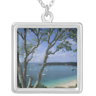 Carribean, Anguilla Island, Road Bay Harbour. Silver Plated Necklace