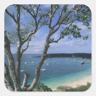 Carribean, Anguilla Island, Road Bay Harbour. Square Sticker