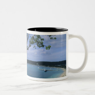 Carribean, Anguilla Island, Road Bay Harbour. Two-Tone Coffee Mug