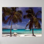 Carribean Beach Scene Poster Print