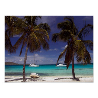 Carribean Beach Scene Poster Print