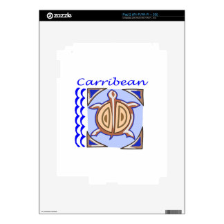 CARRIBEAN DECALS FOR THE iPad 2
