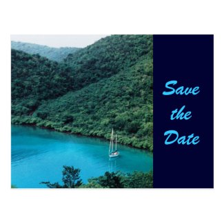 Carribean View Save the Date Postcard