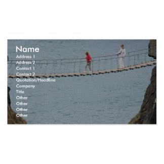 Carrick-A-Rede rope bridge, Ballintoy, Co. Antrim, Business Card