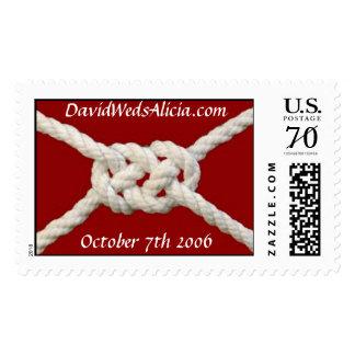 carrick, DavidWedsAlicia.com Stamps