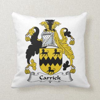 Carrick Family Crest Throw Pillow